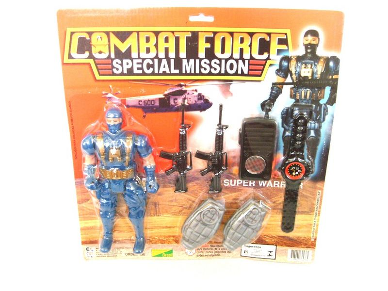 KIT COMBAT FORCE C/07 PCS NA CARTELA 33X34CM - R.436