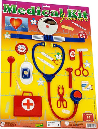 KIT MEDICO 14PC NA CARTELA 35X50CM - REF.561
