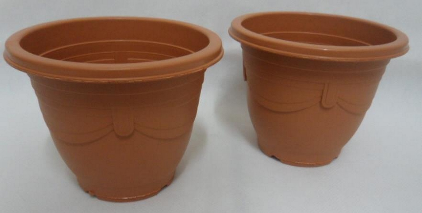 VASO PLASTICO RED. 09CM MARRON PQNO - GL1201