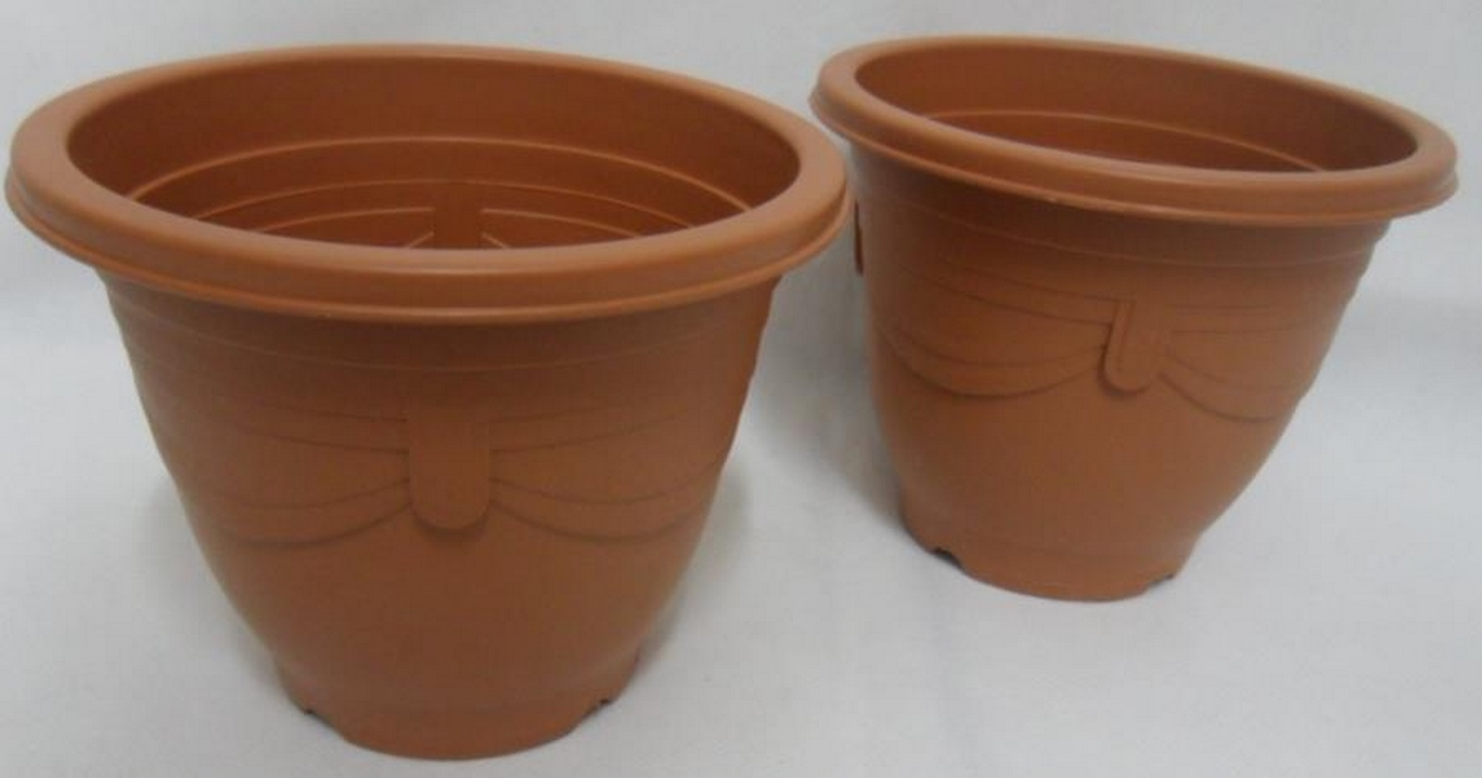 VASO PLASTICO RED. 11CM MARRON MEDIO - GL1202