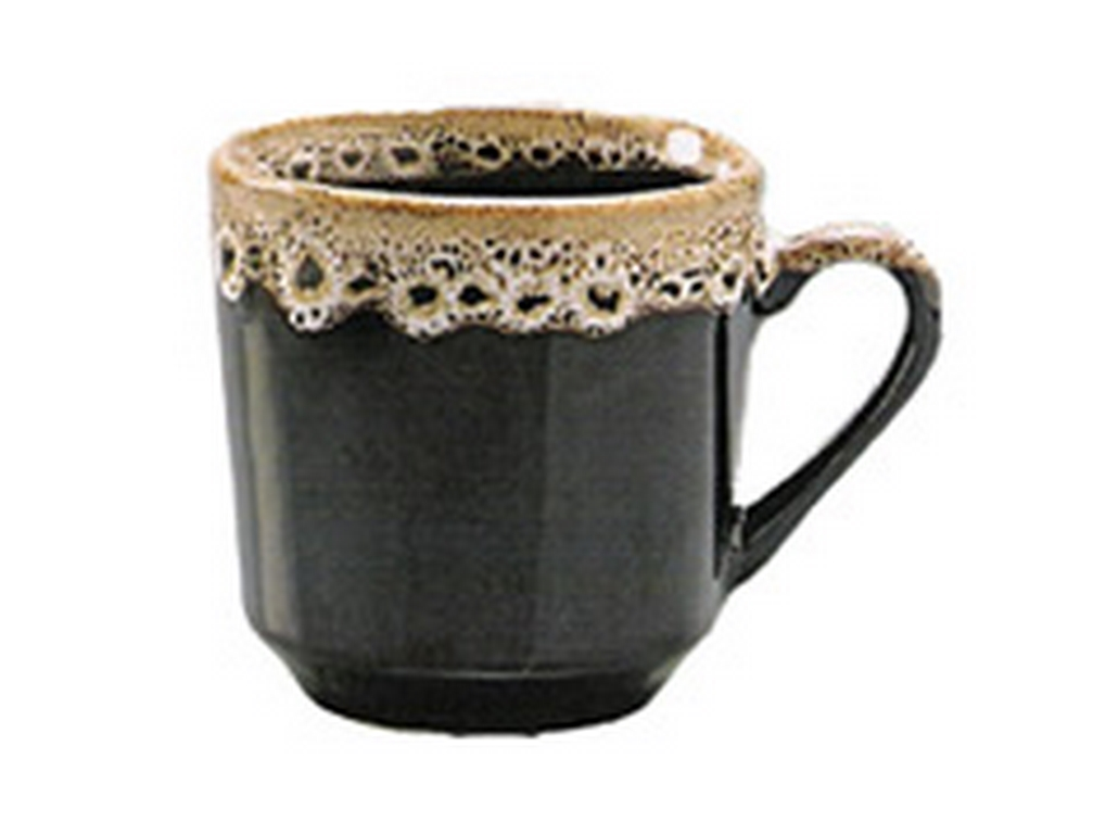 CANECA CERAMICA 200ML MARRON BORDA DECORADA AVULSA - REF.08
