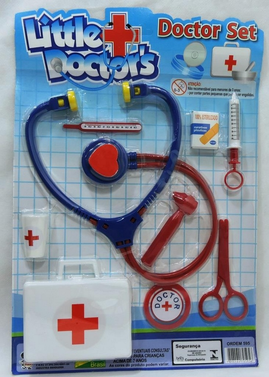 KIT MEDICO DOCTOR C/09 PCS NA CARTELA 24X34CM - REF.595
