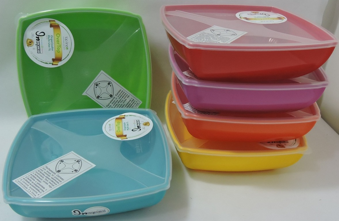 ORGANIZADOR MULTIUSO QUAD. 1,0LTS COLOR BAIXO TOP LINE -REF.661-2