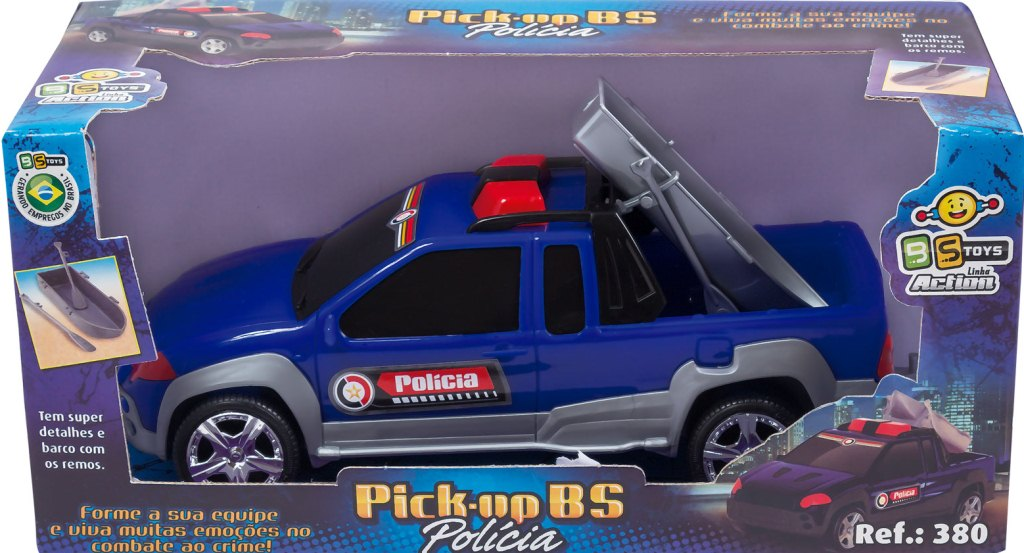 PICK UP BS POWER POLICIA 20CM PLASTICA- REF.380
