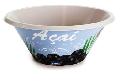 TIGELA PLAST. BOWL DECOR. AÇAI 540ML REF.6903