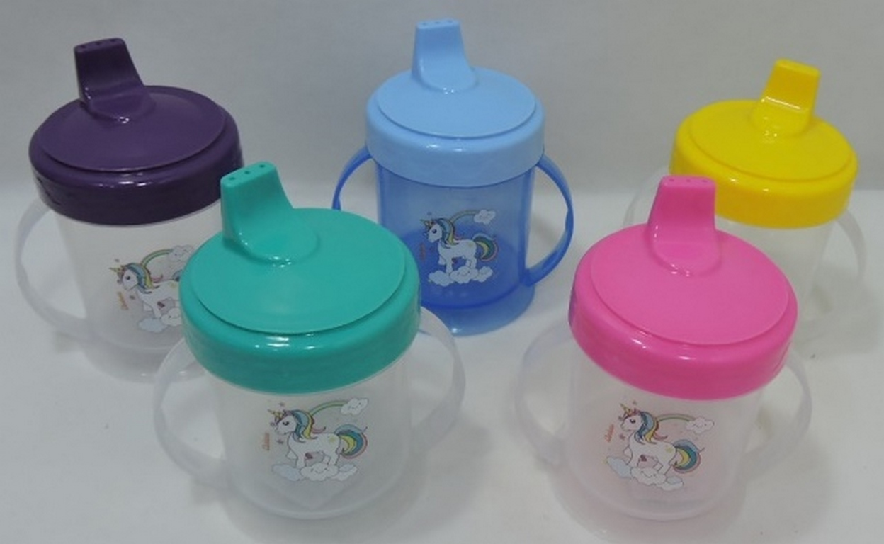 COPO PLAST. 220 ML KIDS C/ ALÇA UNICORNIO TPA COLOR - 470135