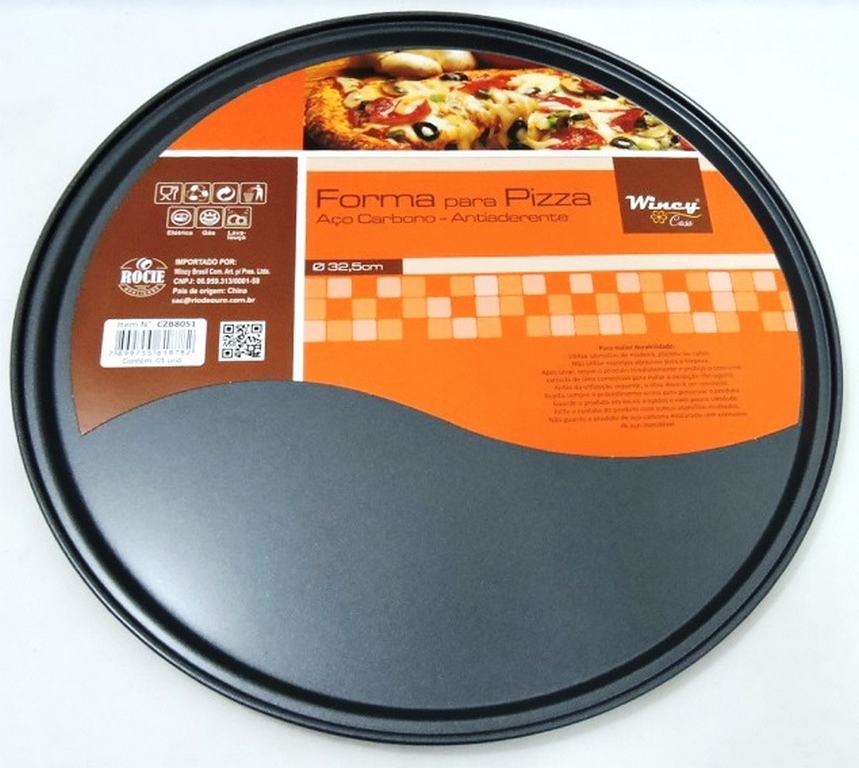 FORMA PIZZA ANTIADERENTE RED. 32,5CM - CZB8051