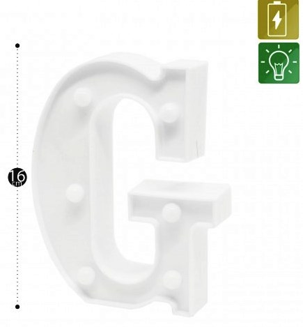 LUMINARIA DEC. PLAST. FORMATO LETRAS C/ LED MINI - HD76088