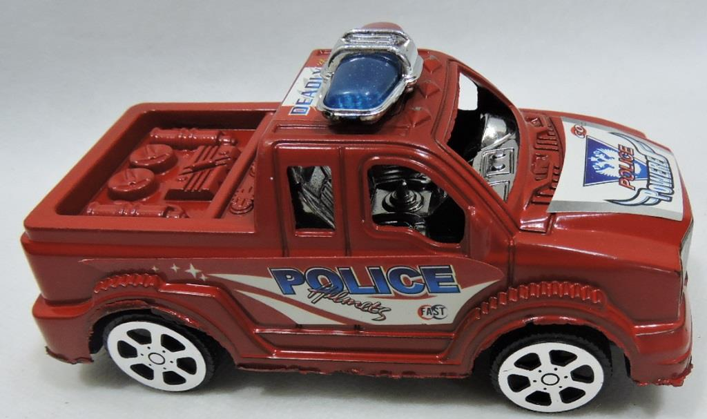 CARRO PLAST. DEADLY POWERE POLICIA 14CM REF. TOYS-0459