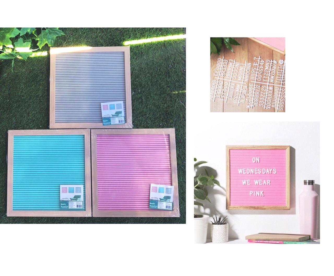 QUADRO DECOR LETTER BOARD. QUADR. 26CM C/ LETRAS P/ MONTAR FRASE COLOR - 95918 - 95576