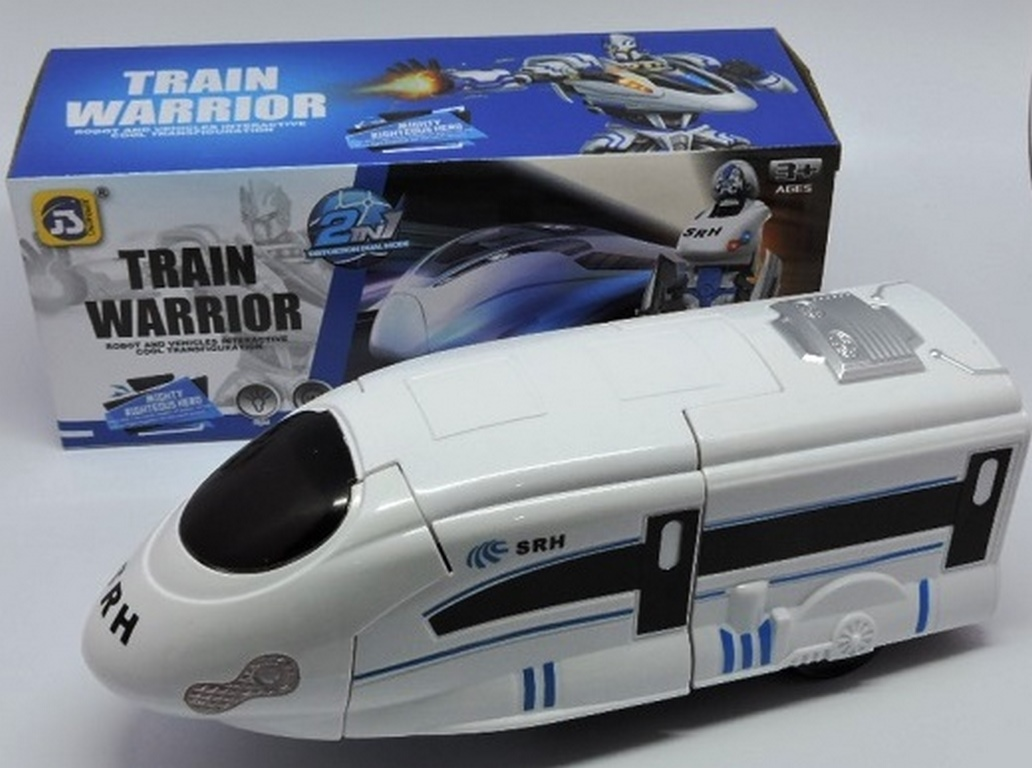 ROBO TRAIN WARRIOR 2IN1 DISTORTION A PILHA 23CM REF.8998