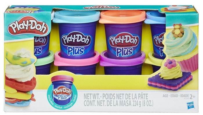 PLAY DOH MASSINHA PLUS PACK C/ 8 POTES COLOR -A1206