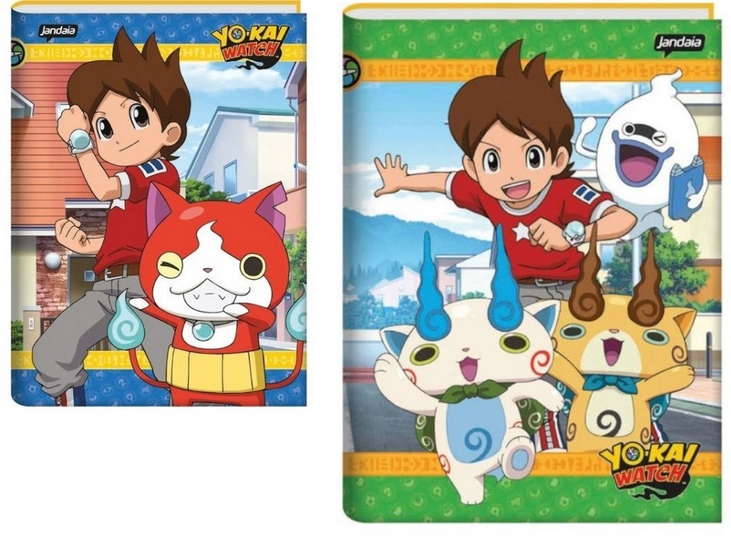 CADERNO BROCHURA 96 FOLHAS CAPA DURA 200X275MM YO KAI WATCH - 63574-18